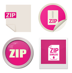 Zip icon set