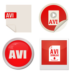 Avi icon set