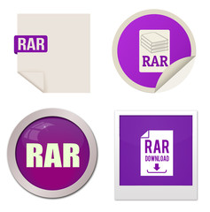 Rar icon set