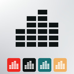 equalizer icon.