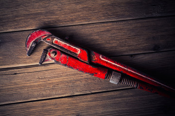 vintage pipe wrench