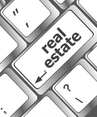 Real Estate. hot key on computer keyboard with Real Estate