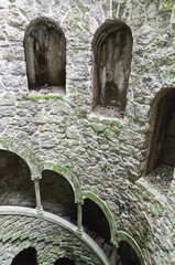 The Initiation well of Quinta da Regaleira in Sintra, Portugal