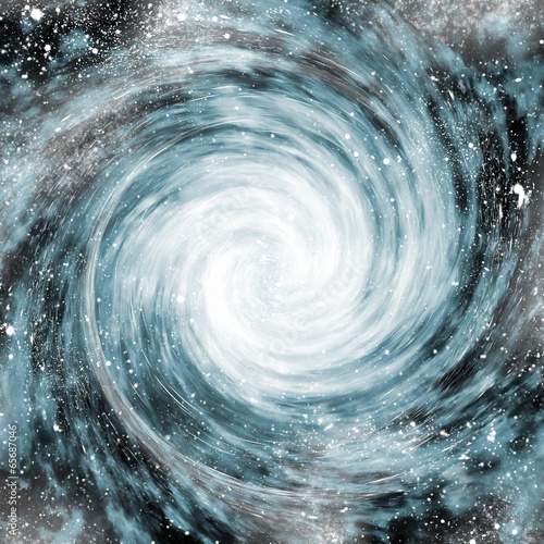 spiral galaxy in space - 65687046