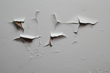 Old cracked gray paint