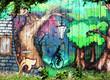 holz_grafitti_wald - 65687646