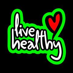 Stciker live healthy