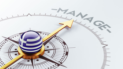 Greece Manage Concept