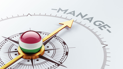 Hungary Manage Concept