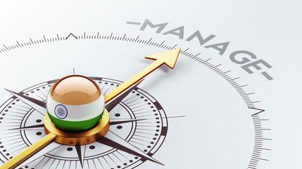India Manage Concept