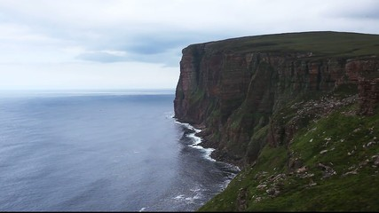 St Johns Head sea cliffs off coast of Orkney, Scotland