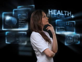 Doctor working virtual interface