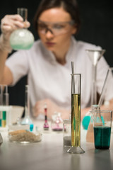 Scientist working lab