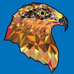 Eagle  head in geometric pattern