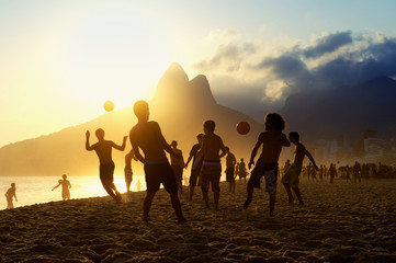 Posto Nove Rio Beach Football Brazilians Playing Altinho