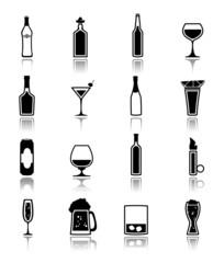 Alcohol icons black