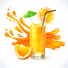 Orange juice ice
