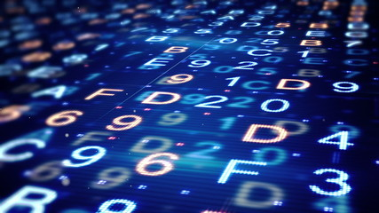 digital hexadecimal data loopable background