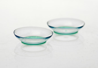 contact lenses isolated on white