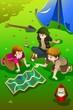 Kids having summer camp