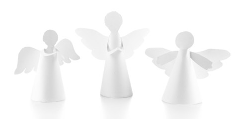 Christmas angels isolated on white