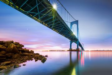 Whitestone bridge at twilight