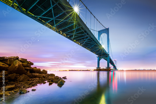 Whitestone bridge at twilight
