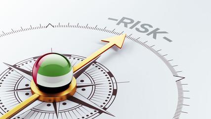 United Arab Emirates. Risk Concept