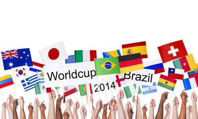 National Flags and Worldcup Brazil 2014