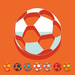Flat design: ball