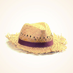 straw hat  old vintage retro style