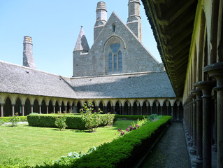 the cloister of Mont St Michel