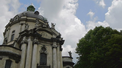 Ukraine, L'viv city  .Church Timelapse. May 28, 2014