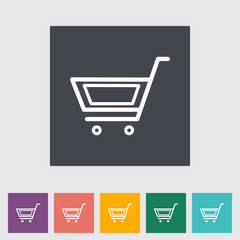 Cart flat single icon.