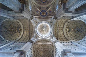 Interior of the Como Cathedral, Italy