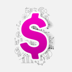 Drawing business formulas: money