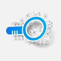 Drawing business formulas: magnifier