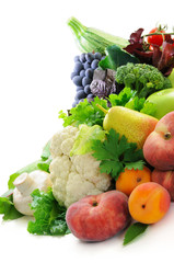 Different sorts of vegetables and  fruit