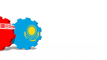 rolling gears with flags of Eurasian Economic Union members