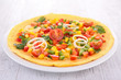 omelette and vegetable