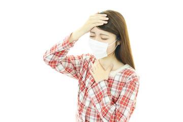 風邪にり患した女性