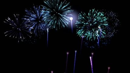 Colorful Animated Fireworks