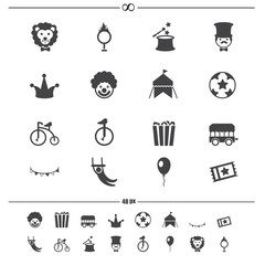 Circus Icons.vector eps10