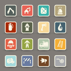 Fireman icons.vector eps10