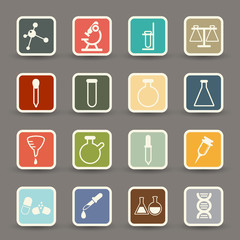 science icons.vector eps10