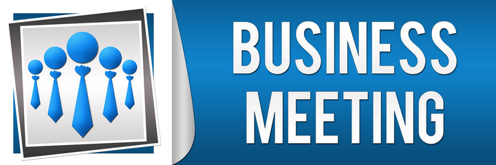 Business Meeting Blue White Banner