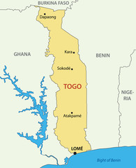 Togo - Togolese Republic - vector map