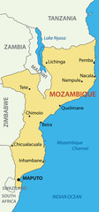 Republic of Mozambique - vector map