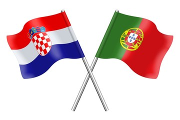 Flags : Croatia and Portugal