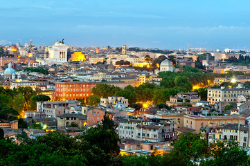 Rome city at evening